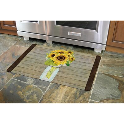 Twila Mason Jar Sunflowers Kitchen Mat