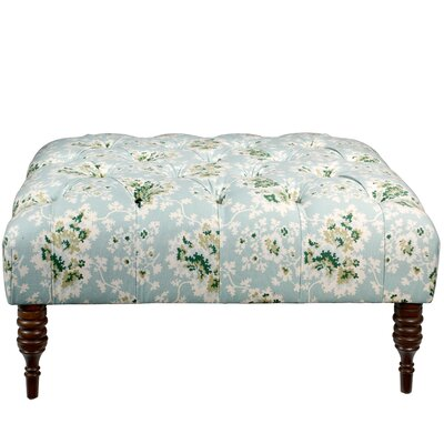 Quinte Tufted Cocktail Ottoman Upholstery: Sea Green