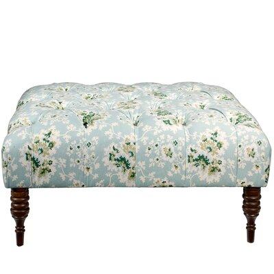 Quinte Ottoman Upholstery: Sea Green