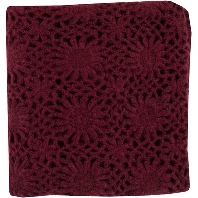 Throw Blanket Color: Burgundy
