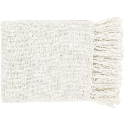Euharlee Throw Blanket Color: Ivory