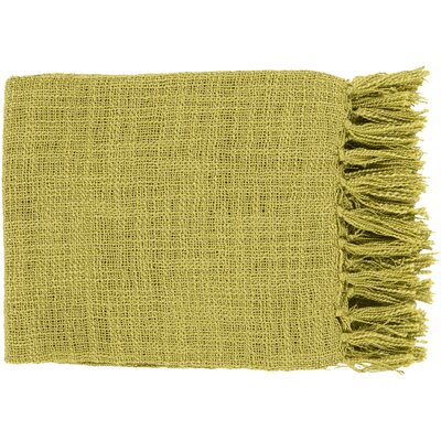 Euharlee Throw Blanket Color: Lime