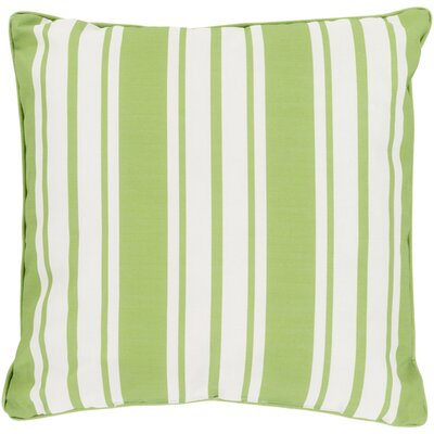 Louisa Outdoor Throw Pillow Size: 20 H x 20 W x 4 D, Color: Lime