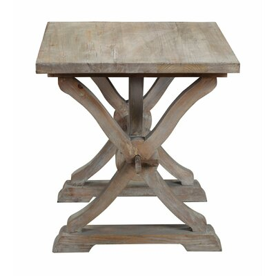 Canterbury Reclaimed Wood End Table Color: Grey Wash