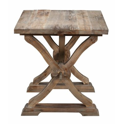 Canterbury Reclaimed Wood End Table Color: Natural Wax