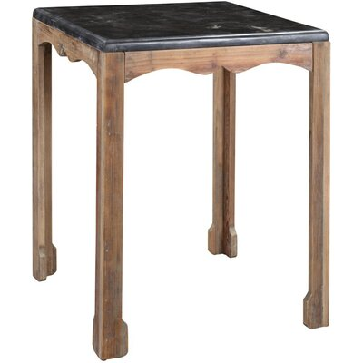 Amsler Side Table in Gray Wash Finish: Natural Wax