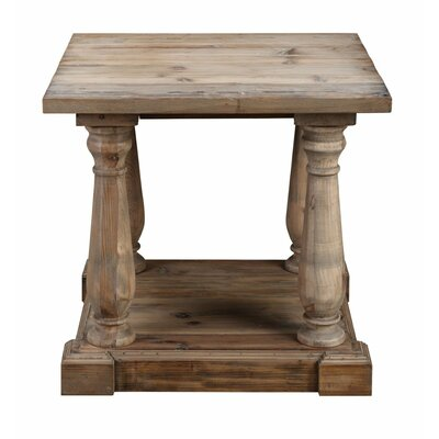 Primeaux End Table Color: Natural Wax