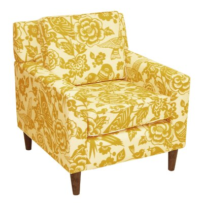 Greer Adobe Armchair Upholstery: Canary Maize