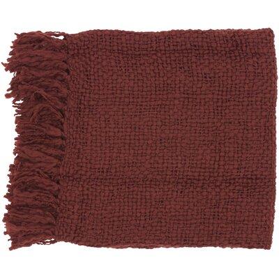 Roopville Throw Blanket Color: Burgundy