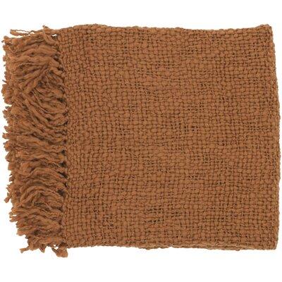 Roopville Throw Blanket Color: Rust