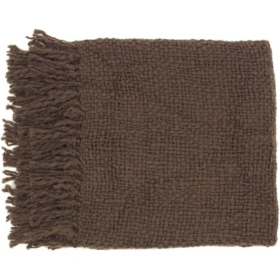 Roopville Throw Blanket Color: Brown