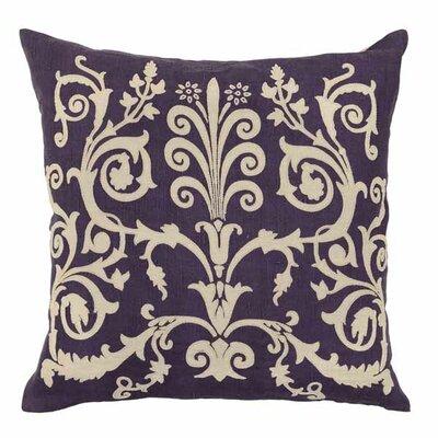 Selfridge Dulce Cotton/Linen Throw Pillow Color: Plum