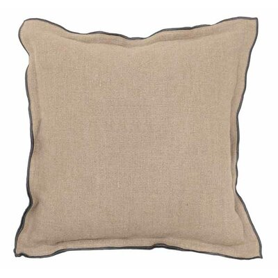 Newborn Linen Throw Pillow Color: Natural / Mauve