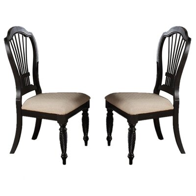 Halton Side Chair Finish: Black