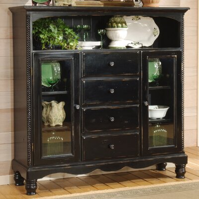 Halton Bakers Sideboard Finish: Black