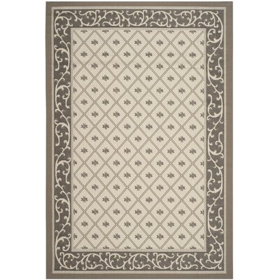 Rhine Beige/Dark Indoor/Outdoor Area Rug Rug Size: 67 x 96