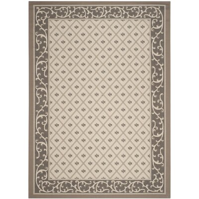 Rhine Beige/Dark Indoor/Outdoor Area Rug Rug Size: Rectangle 8 x 11