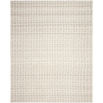 Anis Kilim Hand-Woven Wool Gray/Ivory Area Rug Rug Size: Rectangle 8 x 10