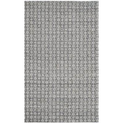 Anis Kilim Ivory/Charcoal Area Rug Rug Size: Rectangle 5 x 8