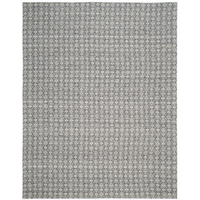 Anis Kilim Ivory/Charcoal Area Rug Rug Size: Rectangle 8 x 10