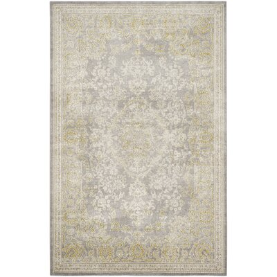 Auguste Gray/Green Area Rug Rug Size: 4 x 57