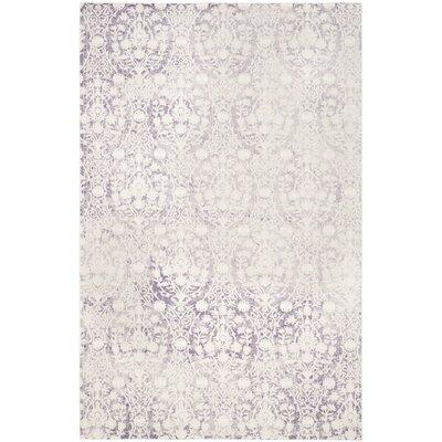 Auguste Lavander/Ivory Area Rug Rug Size: 67 x 92