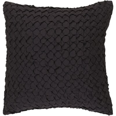 Riverton Linen Throw Pillow Size: 18 H x 18 W x 4 D, Color: Black