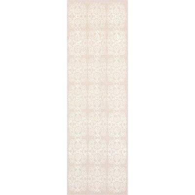 Adeline Beige/Ivory Area Rug Rug Size: Runner 26 x 8