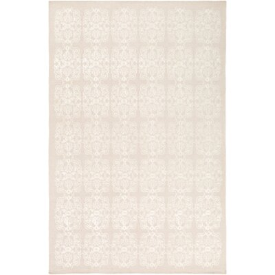 Adeline Beige/Ivory Area Rug Rug Size: Rectangle 6 x 9