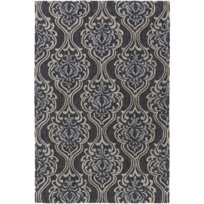 Bastien Black/Light Gray Area Rug Rug Size: Rectangle 4 x 6