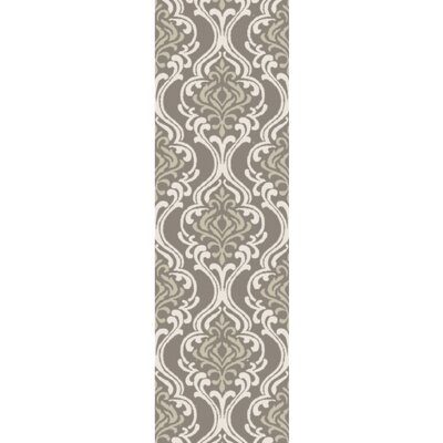 Bastien Hand-Hooked Forest/Ivory Area Rug Rug Size: Runner 26 x 8