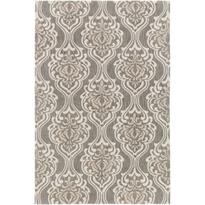 Bastien Hand-Hooked Forest/Ivory Area Rug Rug Size: Rectangle 5 x 76