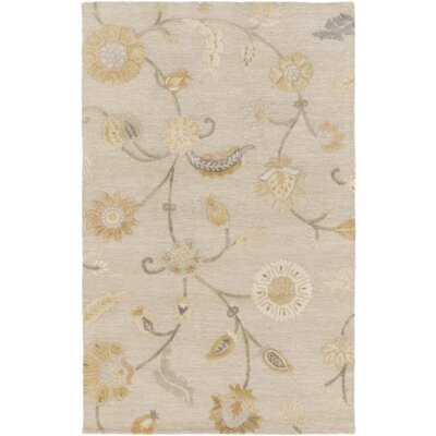 Lepore Light Gray/Gold Area Rug Rug Size: 5 x 8