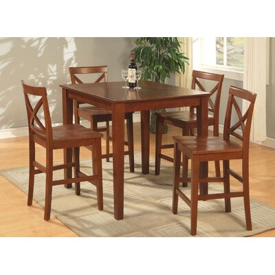 Mathys 5 Piece Counter Height Pub Table Set Color: Brown