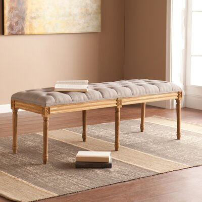 Amber Upholstered Bedroom Bench