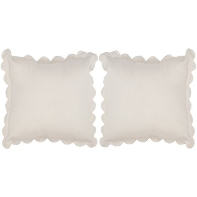 Madeline Pinafore Cotton Throw Pillow Color: Antique White