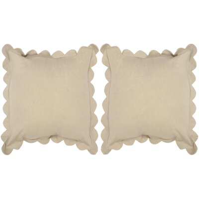 Madeline Pinafore 100% Cotton Throw Pillow Color: Tan