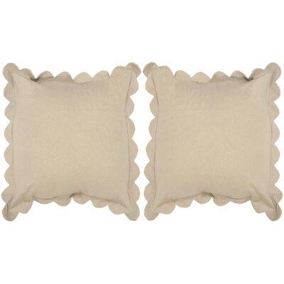 Madeline Pinafore Cotton Throw Pillow Color: Tan