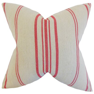 Lilla Linen Throw Pillow Color: Red