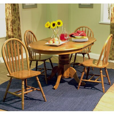 Gennevilliers 5 Piece Dining Set Finish: Oak