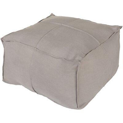 Vozelle Linen Pouf Ottoman Upholstery: Slate