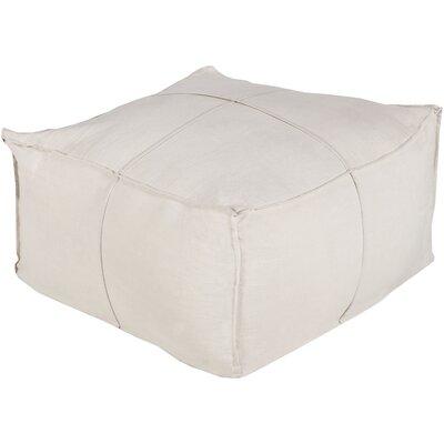 Vozelle Linen Pouf Ottoman Upholstery: Light Khaki