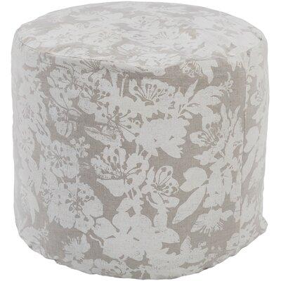 Barfleur Pouf Ottoman Upholstery: Ivory