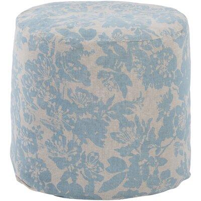 Barfleur Pouf Ottoman Upholstery: Blue