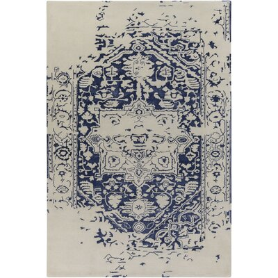 Pearl Hand-Tufted Blue/Beige Area Rug Rug Size: Rectangle 4 x 6