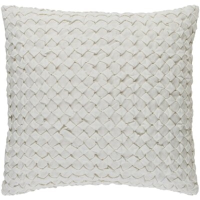 Marine Linen Throw Pillow Size: 22 H x 22 W x 4 D, Color: Ivory