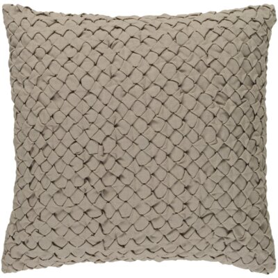 Riverton Linen Throw Pillow Size: 22 H x 22 W x 4 D, Color: Taupe