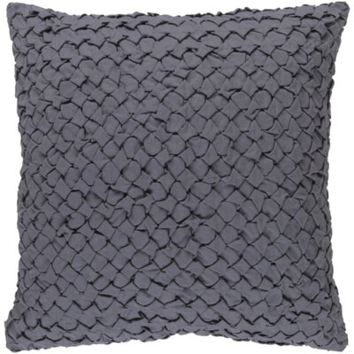 Marine Linen Throw Pillow Size: 22 H x 22 W x 4 D, Color: Gray