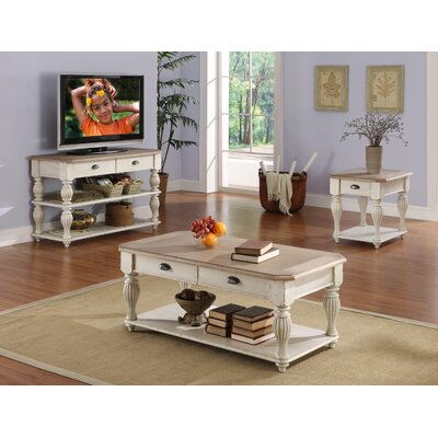 Quevillon Wood Coffee Table Set