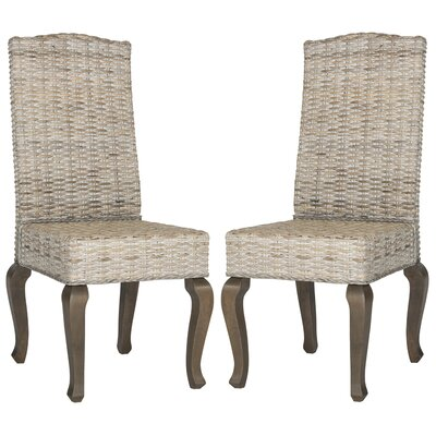 Alsace Parsons Chair Upholstery: White Washed